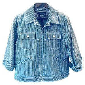 Fall Staple! Ralph Lauren Jean Jacket Stripes XL